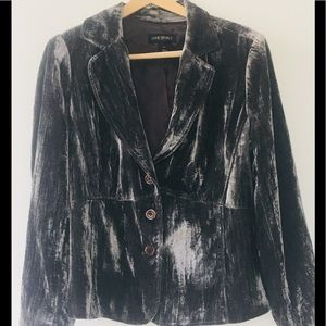 Gorgeous Crushed  Silver|Gray Velvet Jacket